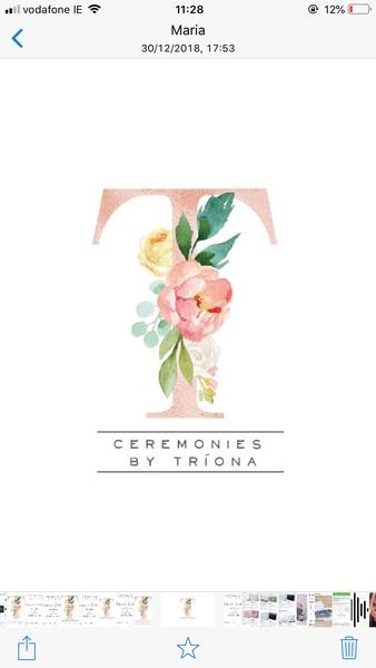 Ceremonies by Tríona €450